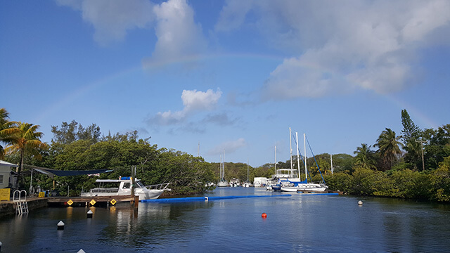 Rainbow over Jules' Lagoon